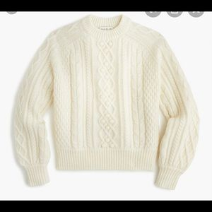 Used J.Crew Demylee Cable Balloon Sleeve Sweater